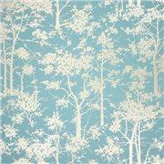 Papier peint - Osborne & Little - Mandara - Bleu et or
