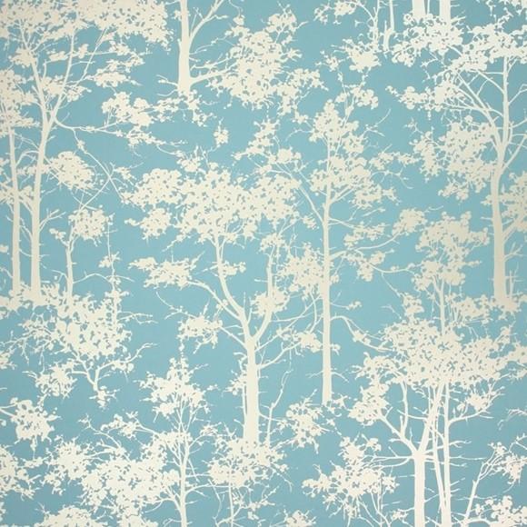 papier peint botanique bleu mandara osborne little au fil des couleurs. Black Bedroom Furniture Sets. Home Design Ideas