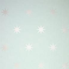 Papier peint - Osborne & Little - Coronata Star - Bleu-vert et or