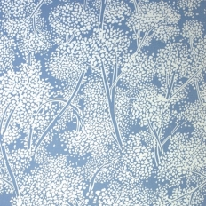 Papier peint - Nina Campbell - Woodsford - Bleu et blanc