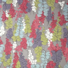 Papier peint - Nina Campbell - Fairfields - Cassis lilas fond taupe