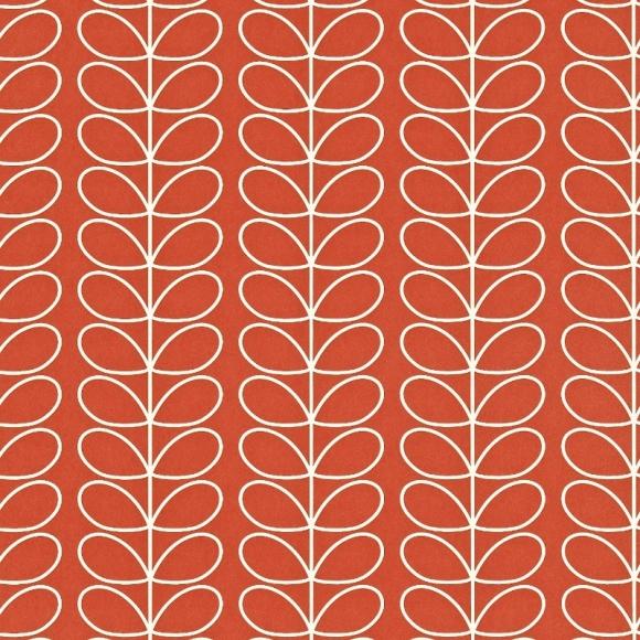 papier peint rouge linear stem de orla kiely. Black Bedroom Furniture Sets. Home Design Ideas