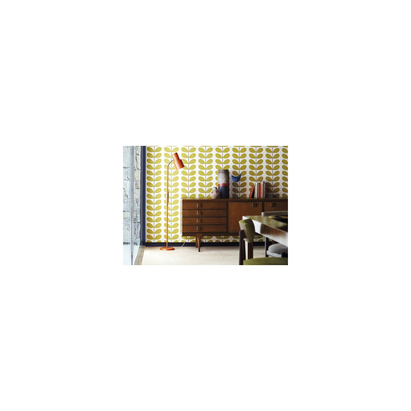 papier peint feuillage vert d 39 eau classic stem de orla kiely. Black Bedroom Furniture Sets. Home Design Ideas