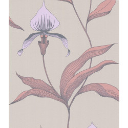Papier peint - Cole and Son - Orchid  - Pink & Beige