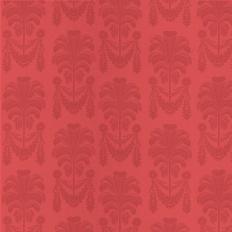 Papier peint - Thibaut - Palm Damask - Red