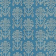 Papier peint - Thibaut - Palm Damask - Blue