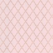 Papier peint - Thibaut - London Trellis - Metallic on Pink