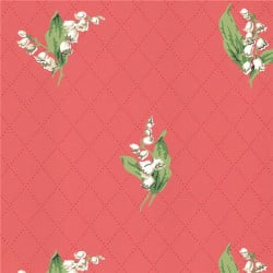 Papier peint - Thibaut - Lily of the Valley - Coral