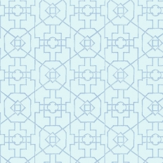 Papier peint - Thibaut - Bamboo Lattice - Blue