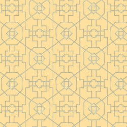 Papier peint - Thibaut - Bamboo Lattice - Yellow