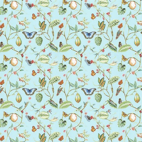 papier peint botanique bleu lillian thibaut au fil des. Black Bedroom Furniture Sets. Home Design Ideas