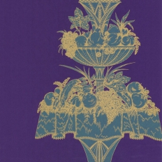 Papier peint - Cole and Son - Opera - Purple & Teal