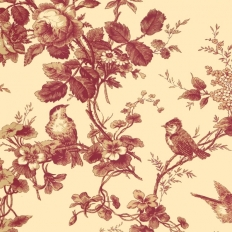 Papier peint - Thibaut - Isabelle - Red on Cream