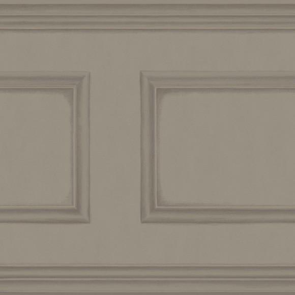 Papier peint gris cimaise imitation boiseries library for Papier peint boiserie haussmannienne