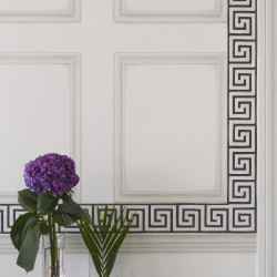 Frise - Cole and Son - Queens Key Border - Black & Emerald