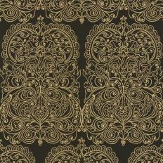 Papier peint - Cole and Son - Alpana  - Black & Gold