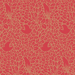 Papier peint - Cole and Son - Dovedale - Red