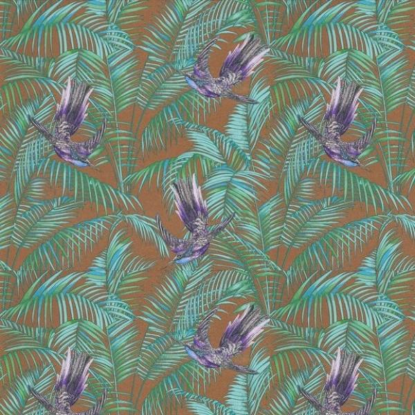 Papier peint turquoise et argent amazing rsum aspect for Papier peint turquoise et argent