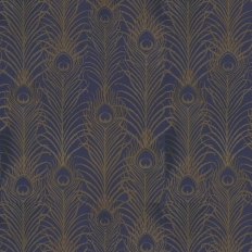 Papier peint - Matthew Williamson - Peacock - Navy