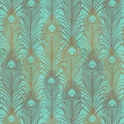 Papier peint - Matthew Williamson - Peacock - Mint