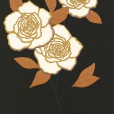 Papier peint - Cole and Son - Paper Rose  - Black & White