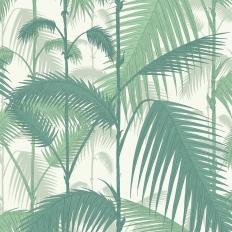 Papier peint - Cole and Son - Palm Jungle - Forest & white