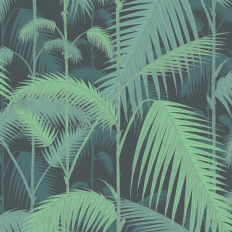 Papier peint - Cole and Son - Palm Jungle - Green & Black