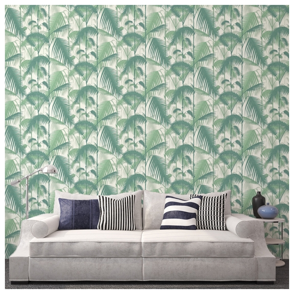 papier peint vert inspiration tropicale palm jungle cole. Black Bedroom Furniture Sets. Home Design Ideas