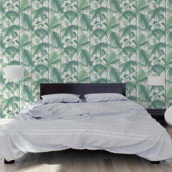 papier peint vert inspiration tropicale palm jungle cole and son au fil des couleurs. Black Bedroom Furniture Sets. Home Design Ideas