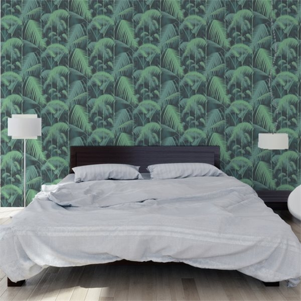Papier peint jungle vert palm jungle cole and son au for Papier peint chambre bebe leroy merlin