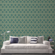 Papier peint - Cole and Son - Hicks Grand - Green