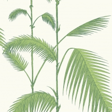 Papier peint - Cole and Son - Palm Leaves - Leaf Green & White