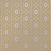Papier peint - Thibaut - Prescott - Metallic on Taupe