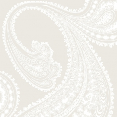 Papier peint - Cole and Son - Rajapur - White & Shell