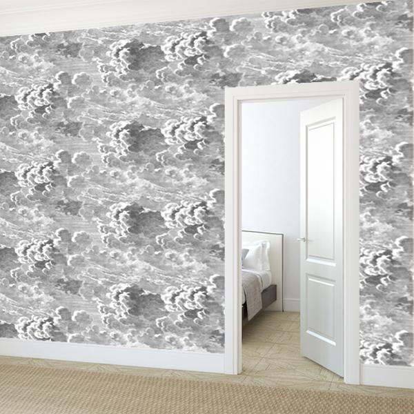 Papier Peint Nuages Blanc Et Noir – Nuvolette