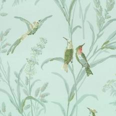 Papier peint - Thibaut - Augustine - Aqua