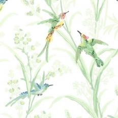 Papier peint - Thibaut - Augustine - White