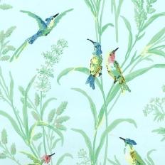 Papier peint - Thibaut - Augustine - Blue