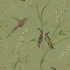 Papier peint - Thibaut - Augustine - Apple Green