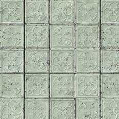 Papier peint - NLXL by ARTE - BROOKLYN TINS 5 - Vert