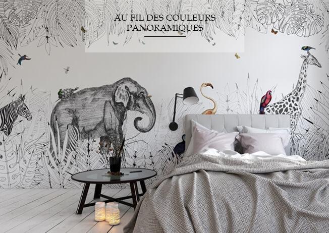 Papier peint luxe d coration murale tapisserie design for Tapisserie murale de luxe